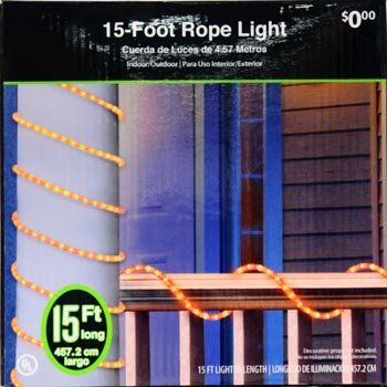 Crystal Iced Halloween Rope Light 15 in