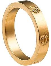 Love Rings Best Women Men Couples Valentine's Day Promise Engagement Wedding, Stainless Steel Couple Ring for Engagement Anniversary Promise
