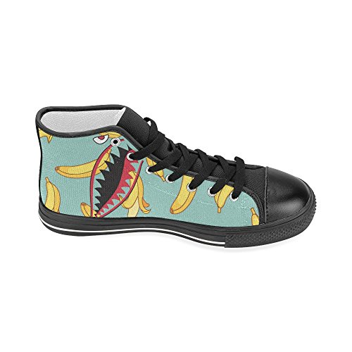 Sneaker Top D With Canvas Pattern Custom Shoes Womens Banana Fashion Classic High Shark1 Story Shark Teeth 6wqT6vF