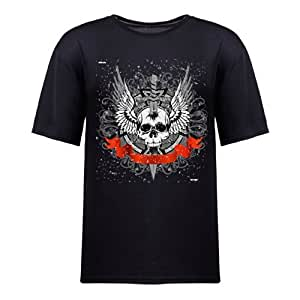 Custom Women's Cotton Short Sleeve Coolest Skulls Printed Round Neck T-Shirt in Various Colors