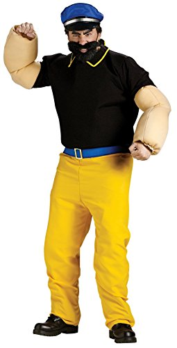 [GTH Men's Popeye Brutus Cartoon Tv Characters Theme Party Dress Costume, One Size] (Popeye Plus Size Adult Mens Costumes)