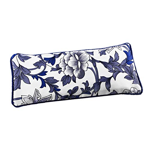Fenteer Lavender Eye Pillow- Organic Flax Seed Filled Silky Eye Pillow for Yoga, Meditation Relaxation Perfect for Sleeping