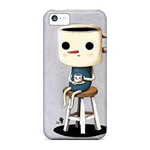 YAZMwjH901cqlsH Case Cover, Fashionable Iphone 5c Case - Coffeeman