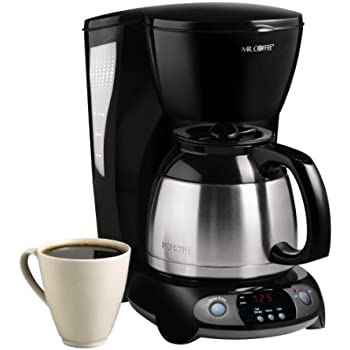 Mr. Coffee 8-Cup Thermal Programmable Coffeemaker, Black