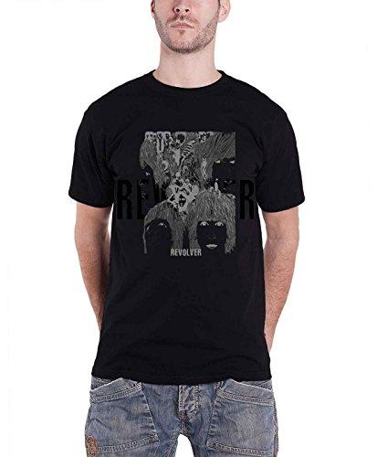 Revolver Album Cover - The Beatles T Shirt Revolver Reverse Album Cover Logo Official Mens Black