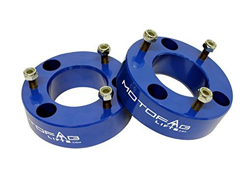 MotoFab Lifts F150-2.5BLUE - 2.5 Front Leveling Lift Kit That Will Raise The Front Of Your F150 2.5 [並行輸入品]   B07FCW2PK5