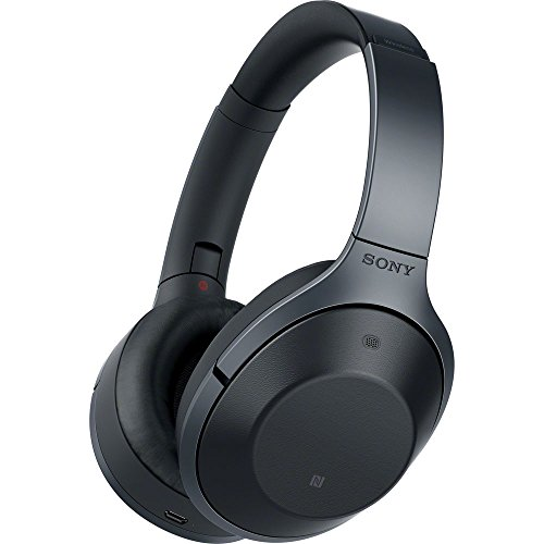 Sony MDR-1000X/B Wireless Bluetooth Noise Cancelling Hi-Fi Headphones (Certified Refurbished) by Sony