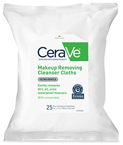 CeraVe Makeup Removing Cleanser Cloths/Wipes 25 count