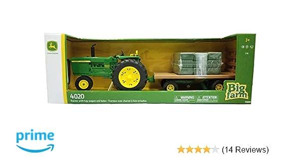 Bales New in Box by Ertl NEW 1//16 John Deere 4020 Tractor w// Hay Wagon hayrack