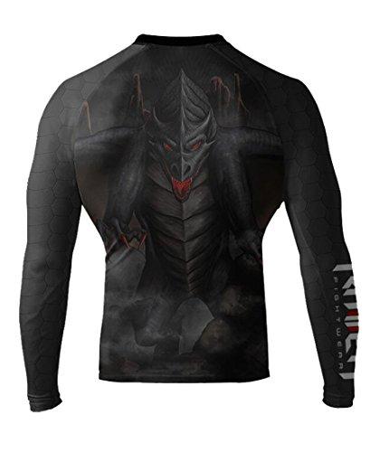 - Raven Fightwear Men's Black Dragon Long Sleeve BJJ MMA Rash Guard 2X-Large