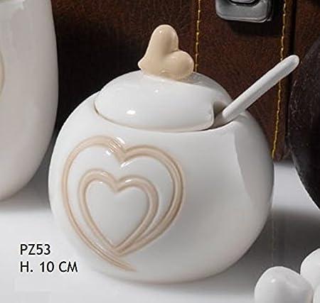 Bomboniere Matrimonio Zuccheriera.Zuccheriera Porcellana Con Cuore Bomboniera Matrimonio Amazon It