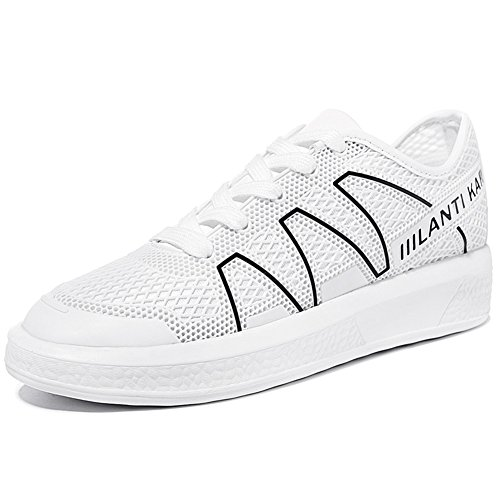 Comfortable White Sneakers MAC Women's Shoes Slip U Running Anti Sneakers Platform Thick Flat Sole wOv66gWdqt