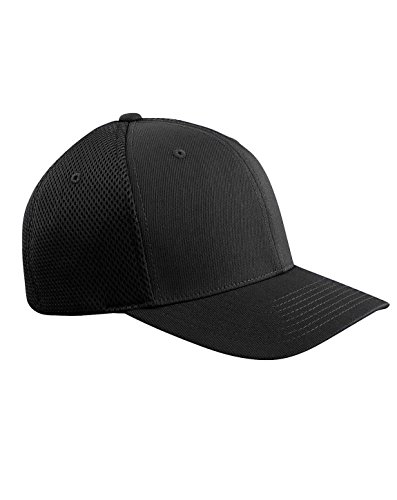 Flexfit 6533 Ultrafibre & Airmesh Fitted Cap, Black - Large/X-Large