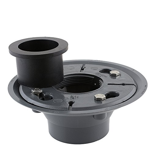 Aqva DBASE2-PVC+DSEAL-2 Luxe PVC Shower Drain Base with Rubber Gasket by Aqva (Image #1)
