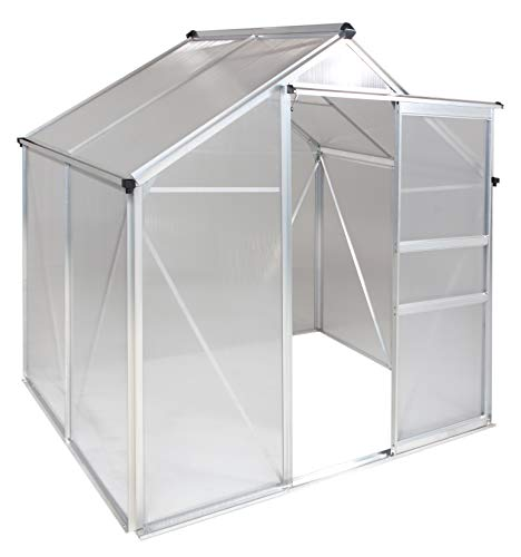 Portable Greenhouses for outdoors |6 X 6 Greenhouse |Sunroom | Medium Green House for plants |Aluminum Patio greenhouse plastic panels |Glass Greenhouse kits | Medium greenhouses for outdoors by Ogrow