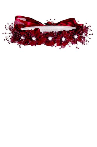 1844e358992 AMJ Dresses Inc Girls One Size Burgundy Flower Girl Hair Wreath - Buy  Online in UAE.   Apparel Products in the UAE - See Prices, Reviews and Free  Delivery ...