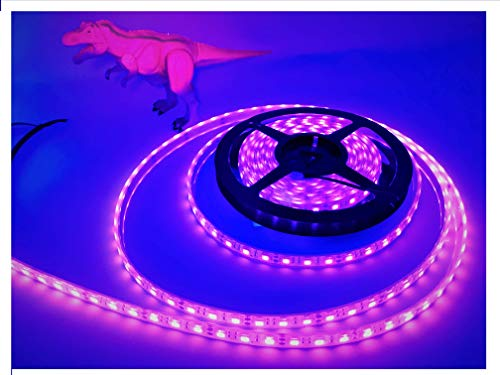 (LEDeXTREME (UV, Ultra Violet) Powerful SMD5050 IP68 Waterproof 100% Submersible Outdoor 16.4 ft./5 Meter 300 LED Lights (per Reel) LED Light Strips Fishing, Deck Lighting, Pools, Saltwater)