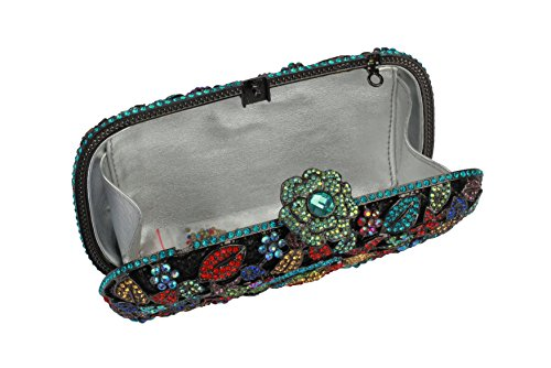 Bright Square Darkgrey Colored and Yilongsheng Crystal Women's Evening Clutches Floral Bags with Diamonds Multicolor Shiny amp; xn8g8AZ