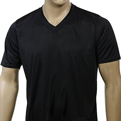 McDavid 905VT Mens Half Sleeve Referee Cut V-Neck T Shirt Black Medium [Misc.] by McDavid