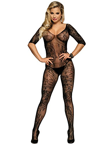 Women Fishnet Bodystocking Crotchless Body Stockings Tights for Sex Plus Size