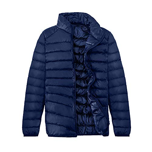 Down Navy Resistant Packable Water HARRYSTORE Puffer Packable Jacket Lightweight Jacket Sportswear Men's 6xZwPPTX