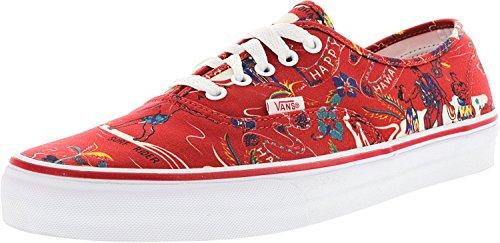 Bestelwagen Authentiek Heren Zwart Canvas Veterschoenen Sneakers Rood Rood / Happy Hawaii