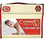 Copper X 6 Piece Sheet Set Queen (Ivory) 2000 Series