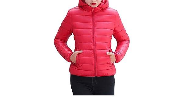ZhuiKunA Chaqueta Abrigos Entallados Parka con Capucha Cuello de Piel para Mujer Rojo XXL: Amazon.es: Ropa y accesorios