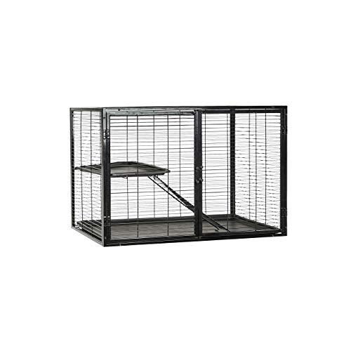 Amazon Basics Small Animal Metal Pet Cage with Wheels