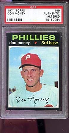 Amazoncom 1971 Topps 49 Don Money Phillies Psa Authentic