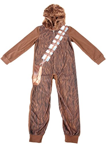 Star Wars Onesie Adults (Star Wars Little Boys' Chewbaca Hooded Blanket Sleeper, Brown,)