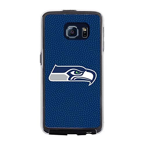 NFL Seattle Seahawks Football Pebble Grain Feel No Wordmark Samsung Galaxy S6 Case, Team Color from Game Wear, Inc.