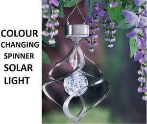 BRAND NEW GARDEN COLOUR CHANGING SOLAR SATURN WIND SPINNER SOLAR LIGHT OnlineDiscountStore