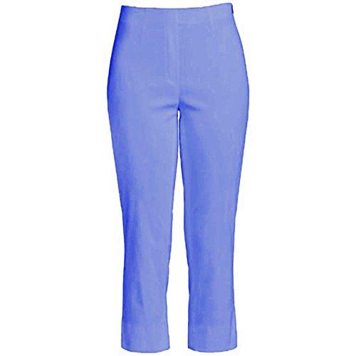 Capri 07 Blau Pantalones nbsp; Mujer Para Slim Robell Flieder 62 Marie Corte Elásticos Color Pwvqpq5