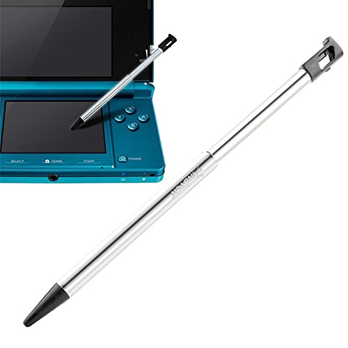 Insten Metal With Black Cap Retractable Stylus For Nintendo 3DS (NOT COMPATIBLE with 3DS XL, NEW 3DS, DSi, 2DS)
