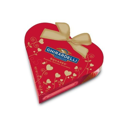 Ghirardelli Choc Valtn Sml Red Hrt Gft, 3.78 (Heart Chocolate Gift Box)