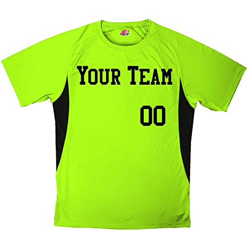(Economy All Sport Custom Baseball Jersey Youth Large in Lime and Black)
