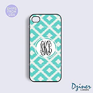 Monogram iPhone 6 Case - 4.7 inch model - Ikat Teal Diamond Design iPhone Cover