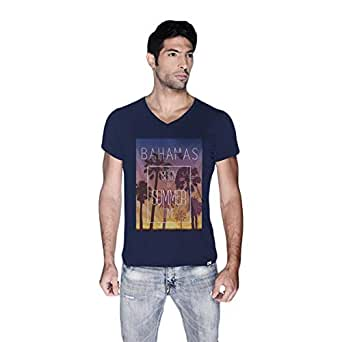 Creo Bahamas Beach T-Shirt For Men - M, Navy Blue