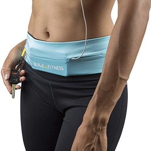 Build & Fitness Running Belt Waist Adjustable, Comfortable Slim with Key Clip - Fits Fuel Gel, iPhone 6,7,8plus,X, Samsung S7,S8,S9 - for Men, Women, Runners, Jogging, Gym, Yoga, Workout, Sports by Build & Fitness (Image #6)