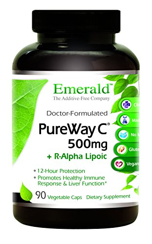 PureWay C 500mg + R-Alpha Lipoic Acid - Supports Healthy Immune System Response & Optimal Liver Function - Emerald Laboratories - 90 Vegetable Capsules