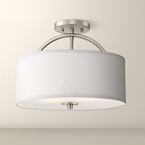 Possini Euro Halsted 15 Wide Brushed Nickel Ceiling Light Ceiling