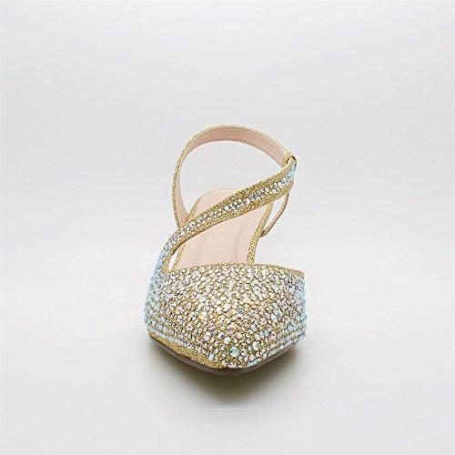 London Footwear Elly, Women's Heels Sandals Gold