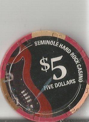 $5 hard rock seminole hotel housecasino chip hollywood - Casino Hard Rock Seminole Hotel
