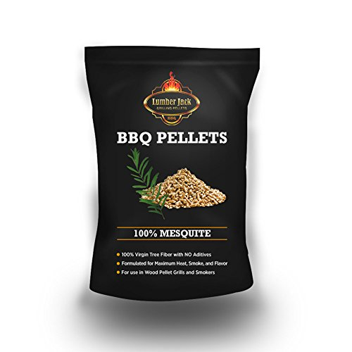 Lumber Jack LJACK-Mesquite-20 20-pounds BBQ Grilling Wood pellets (100% Mesquite), Brown