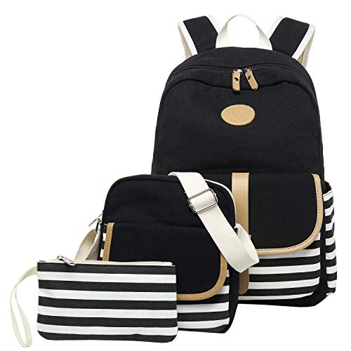 Backpack set Canvas School Bag Teens Boys/Girls Book Bag Middle School Backpack