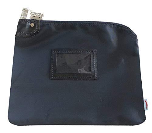 Locking Bank Bag Laminated Nylon Combination Keyed Security System (Navy ()