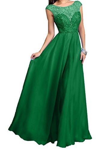 Neu Brautmutterkleider Damen 2018 A Abendkleider Linie Chiffon Promkleider Charmant Rock Steine Grün Festlichkleider Langes wEpYUH