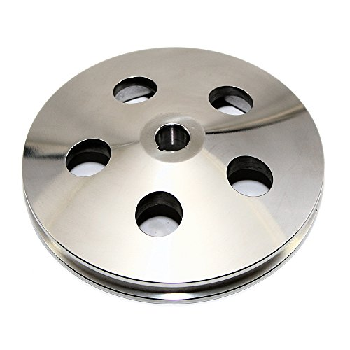 Assault Racing Products A8848POL Chevy/GM 1 Groove Bolt-On Keyway Polished Aluminum Power Steering Pump Pulley 5-3/4