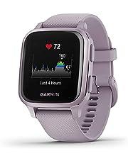 Garmin Venu Sq Smartwatch Voor De Gezondheid Van Het Welzijn, Geïntegreerde GPS, Multisport, Cardio, Pols, Garmin Pay, Lange Batterijduur, Lavendel/Paars - Wijzerplaat 40 mm